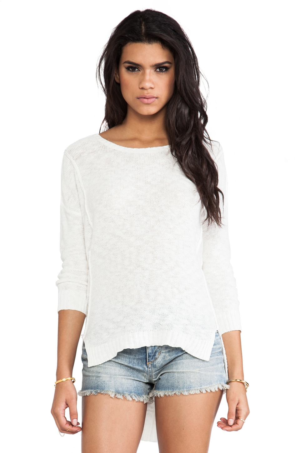 Line Embarkment Sweater in Blanche