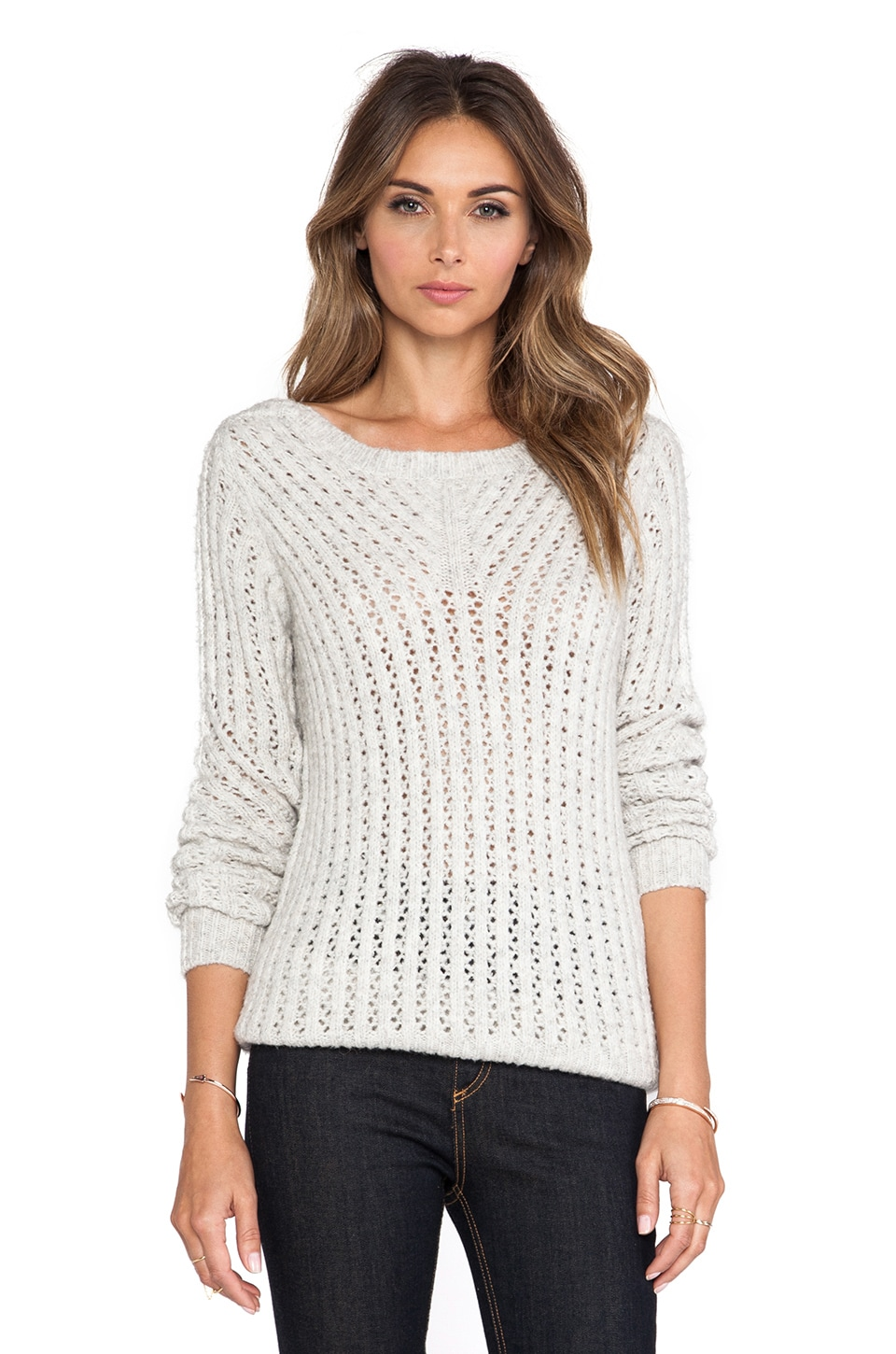 Line Wicker Sweater in Ivory
