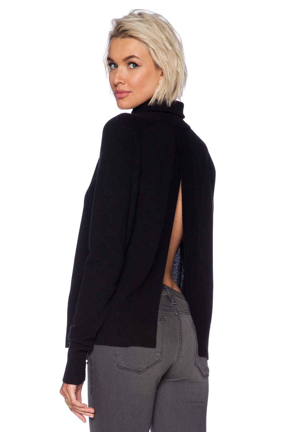 Line Elisa Turtleneck Sweater in Caviar