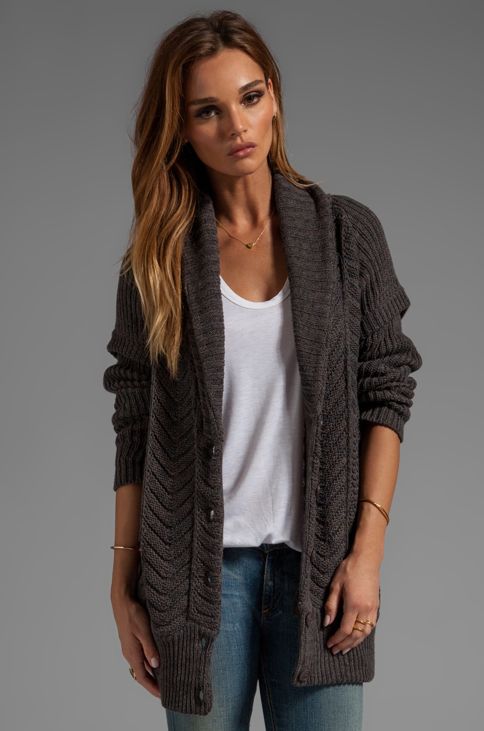 Line The Statesman Cardi in Sergeant