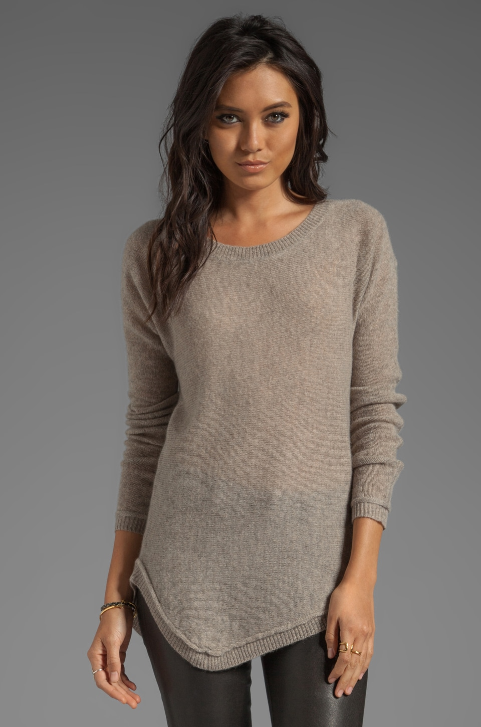Line The Imperfect Asymmetric Sweater in Mushroom