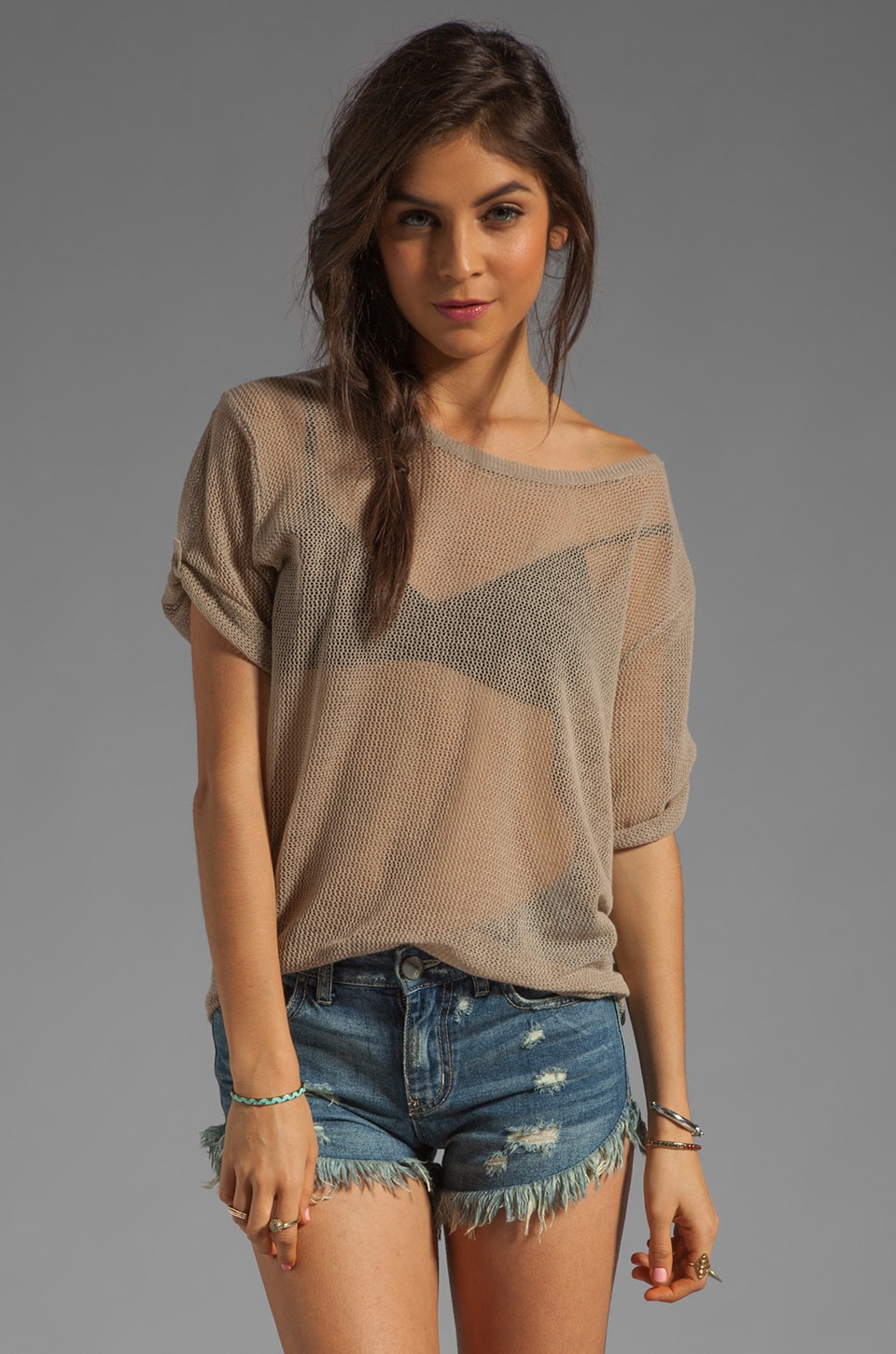 Line The Sea Breeze Top in Sandpit