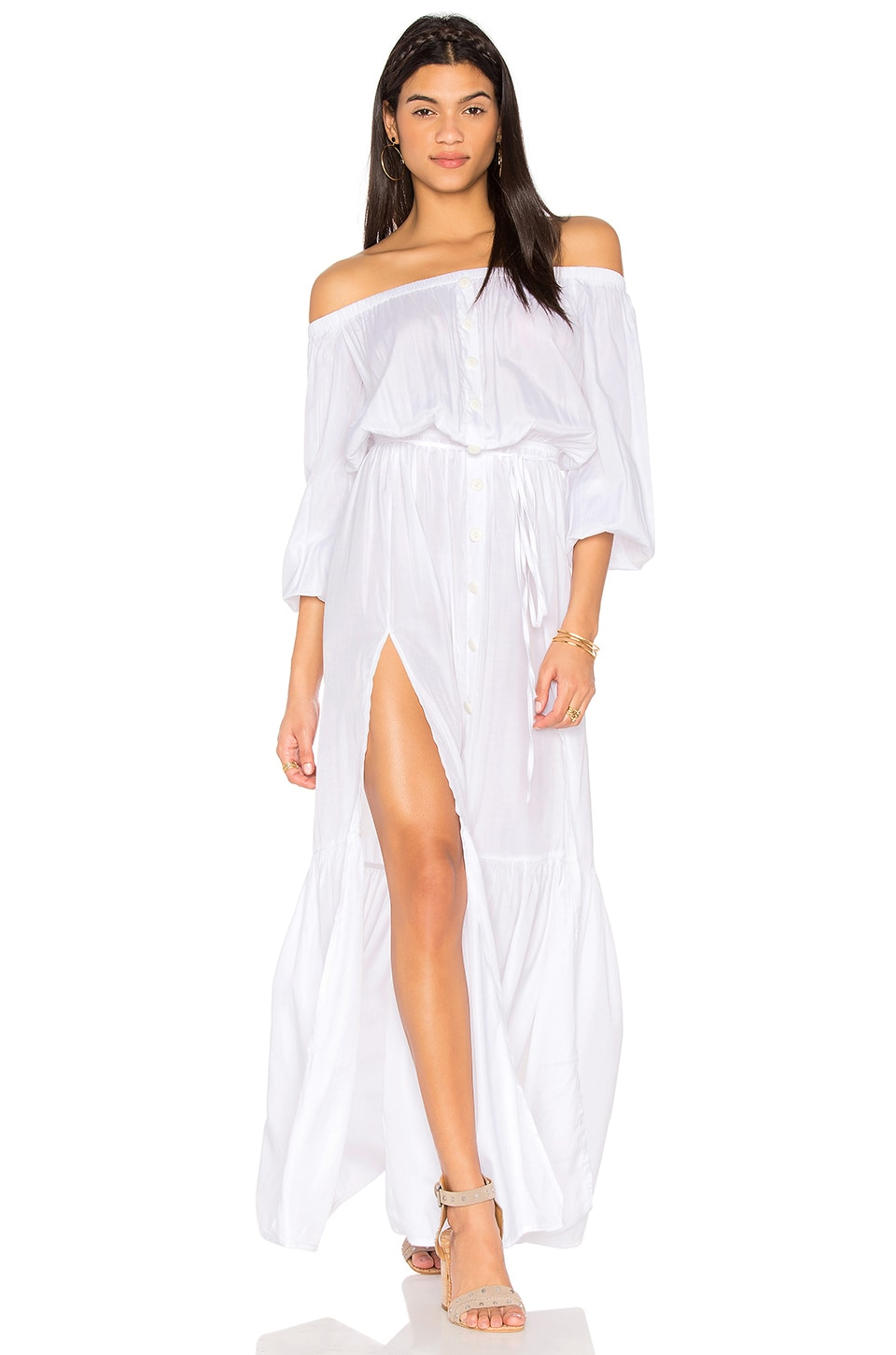 LIONESS Summer Punch Maxi Dress in White