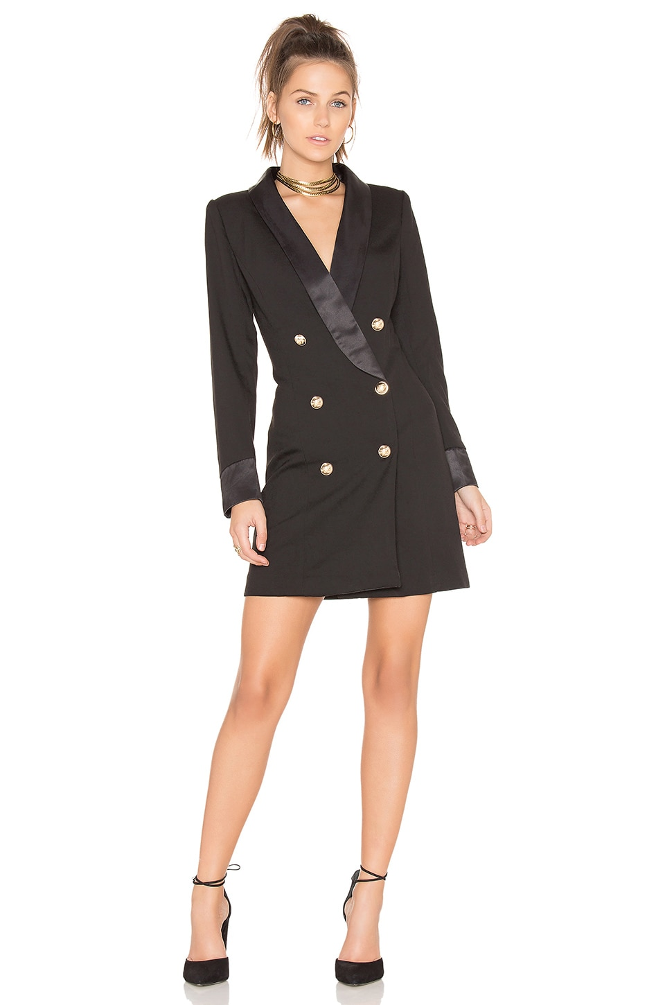 LIONESS Palermo Blazer Dress in Black
