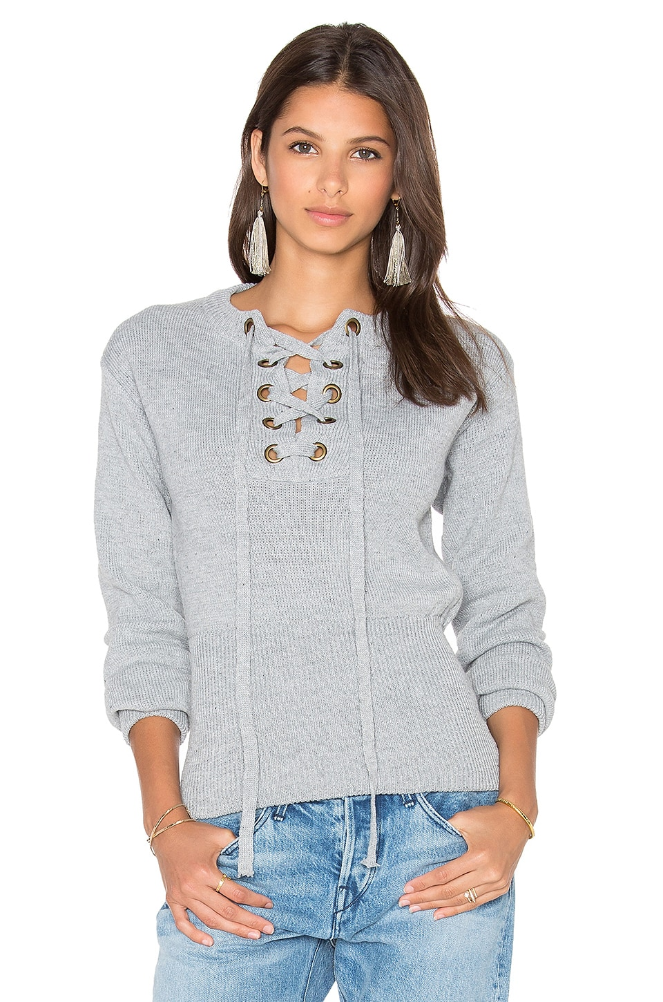 LIONESS Sicily In Dusk Sweater in Grey