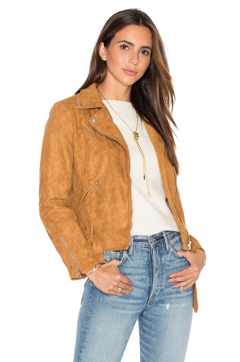 Made For Milan Suede Biker Jacket by LIONESS