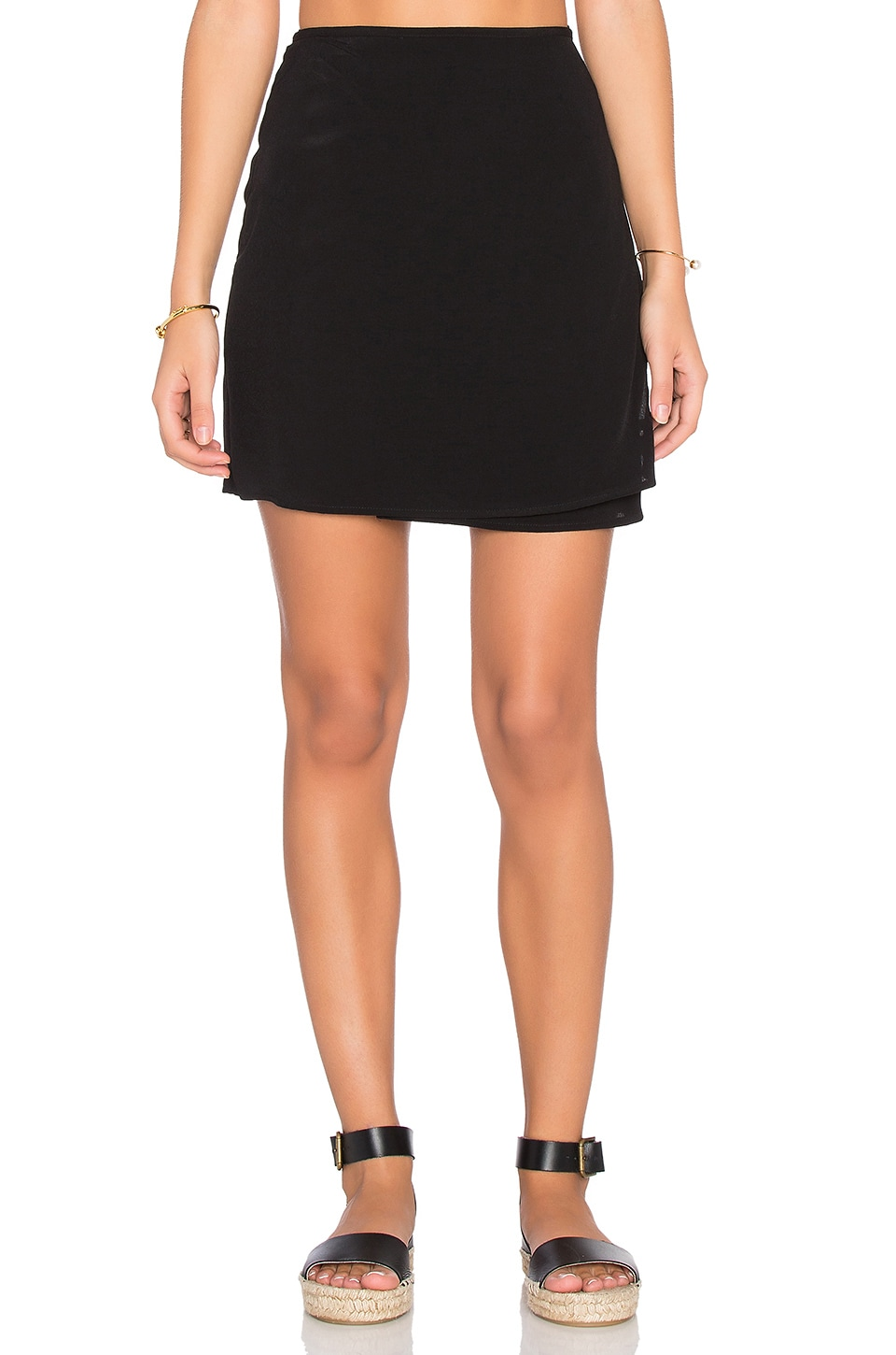 Lisakai Livorno Wrap Skirt in Black