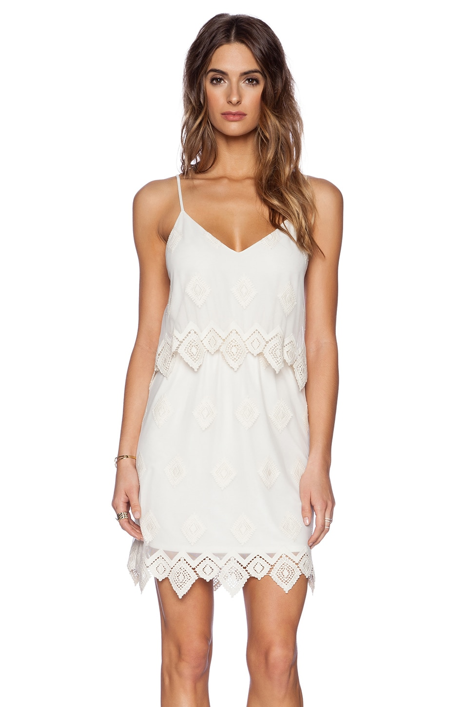 LIV Anna Lace Cami Dress in Ivory