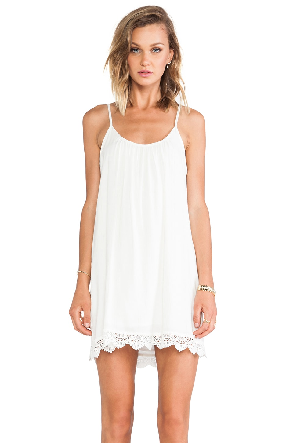 LIV Cami Scoop Dress in Cream