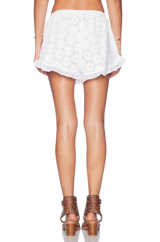 Ruffle Hem Shorts Liv Ruffle Hem Shorts in White