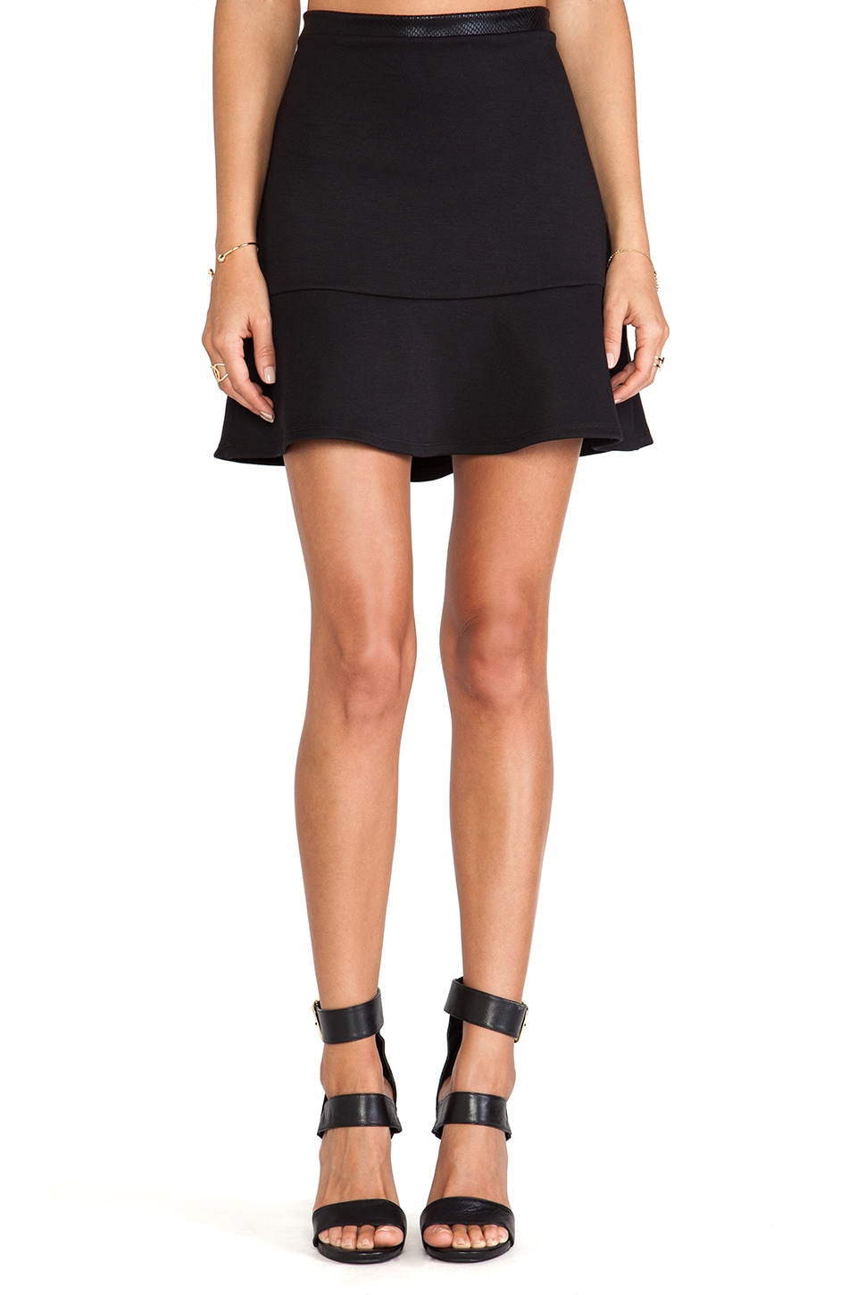 LIV Vanessa A-Line Skirt in Black
