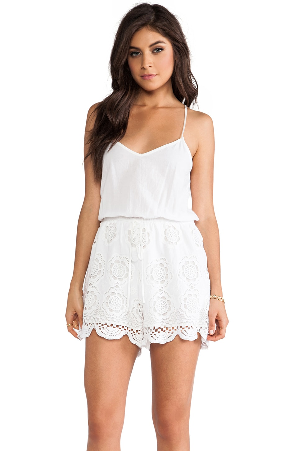 LIV Racer Back Romper in White