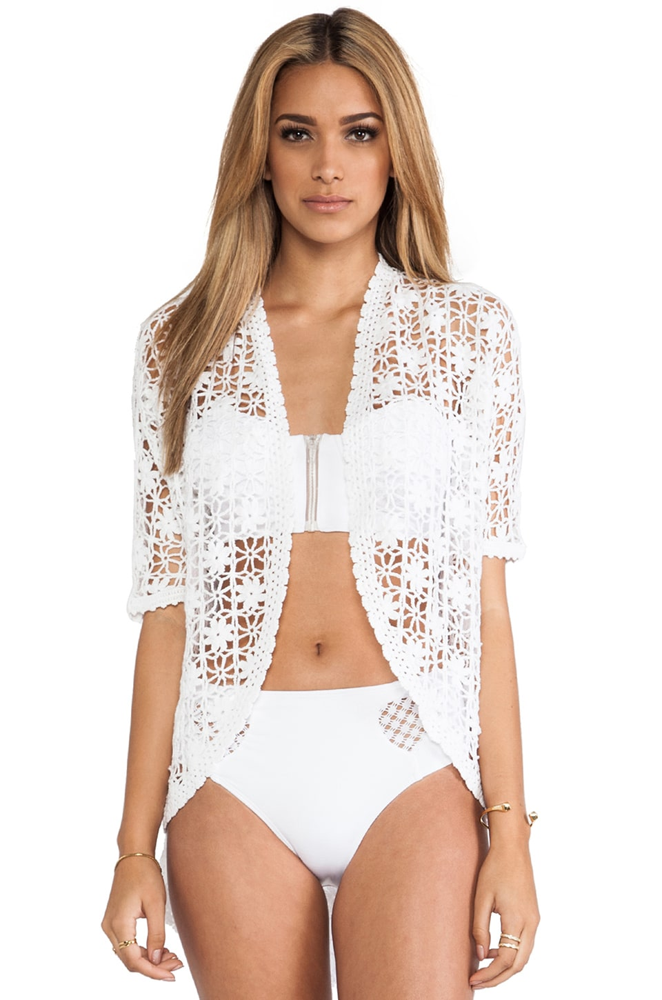 Lisa Maree The Flickering Flame Kimono in Creme Fraiche