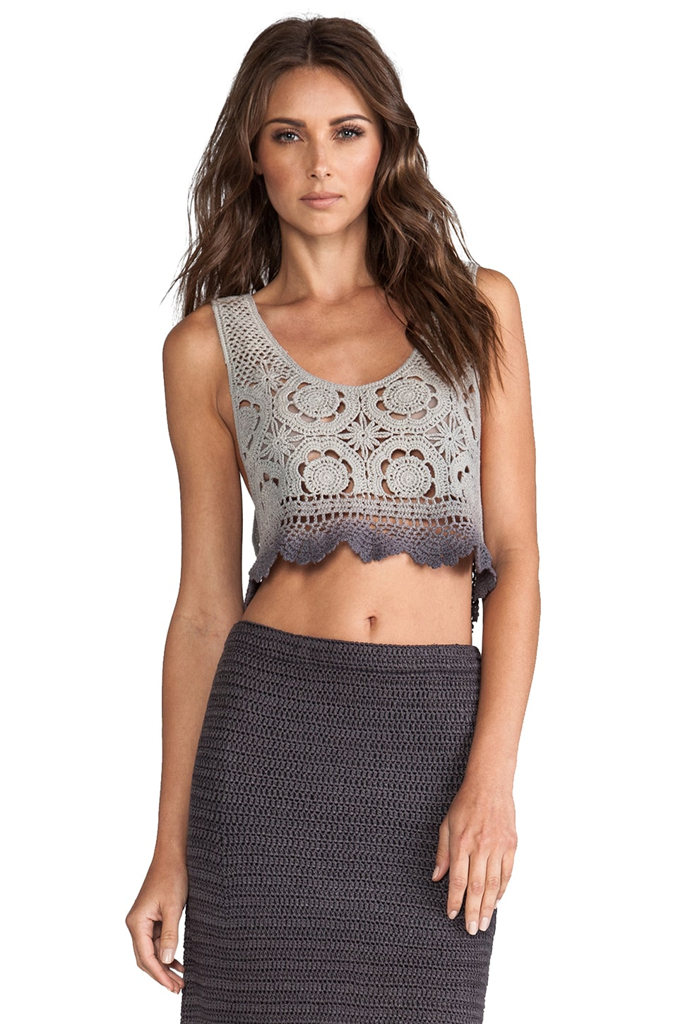 Lisa Maree By The Wayside Crochet Top in Acid Black Ombre