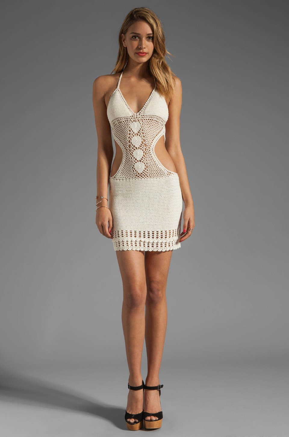 Lisa Maree From Then & Now Crochet Cover Up in Cream