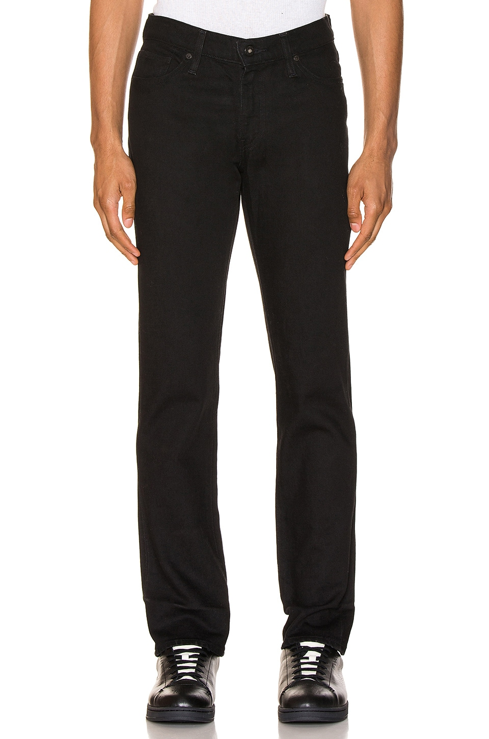LEVI'S: Made & Crafted 511 in Black Rinse 1 Selvedge