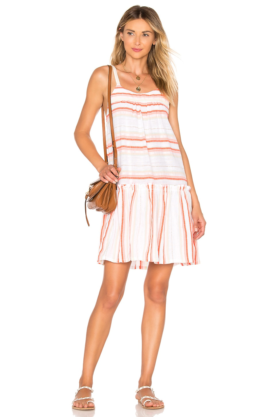 Lemlem Fiesta Beach Dress in Orange