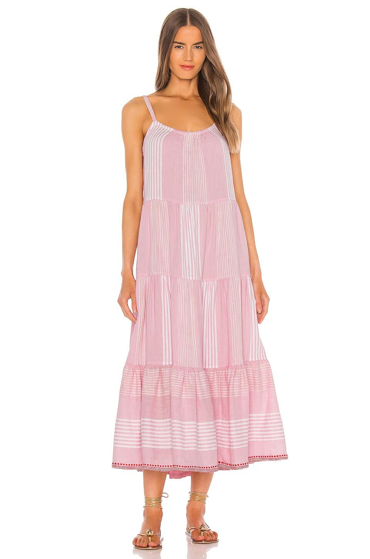 Lemlem Rekik Cascade Dress in Misty Rose