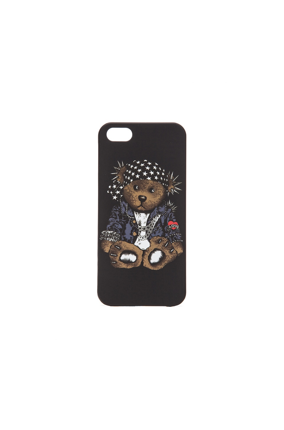 Lauren Moshi Rocker Teddy Phone Case in Black