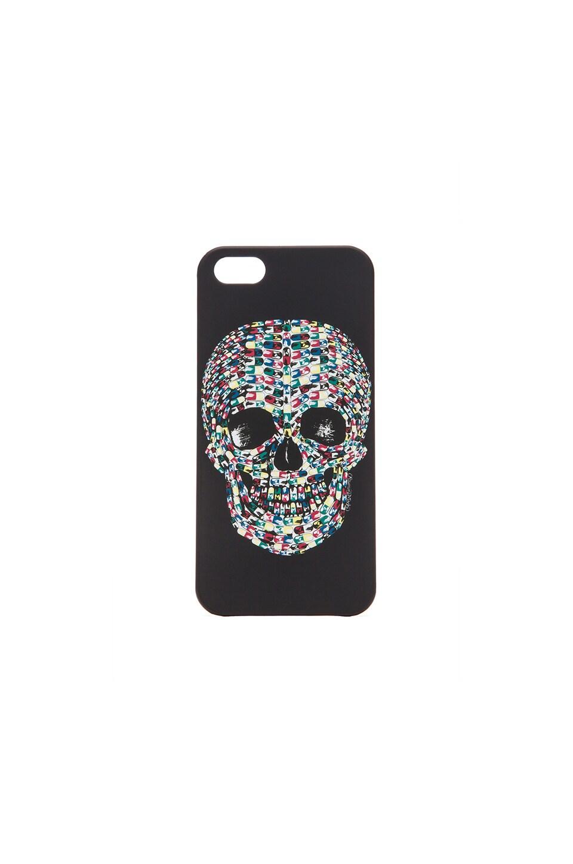 Lauren Moshi Pill Skull Phone Case in Black