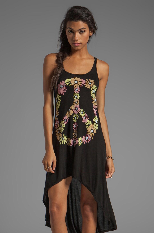 Lauren Moshi Daria Color Peace Daisy Tank Dress in Black