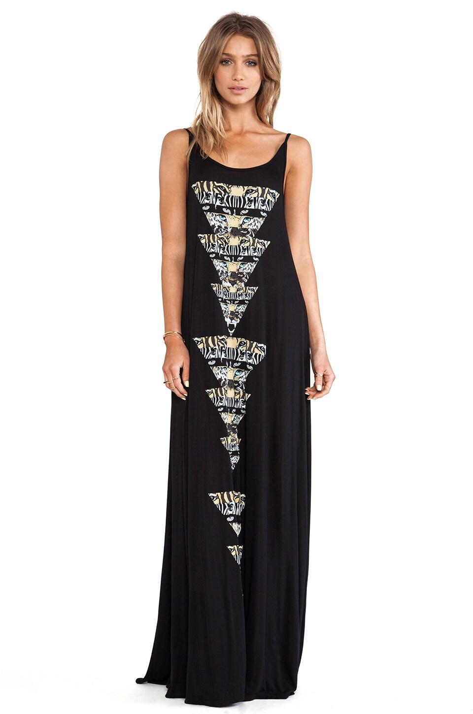 Lauren Moshi Lex Animal Pyramids Low Maxi in Black