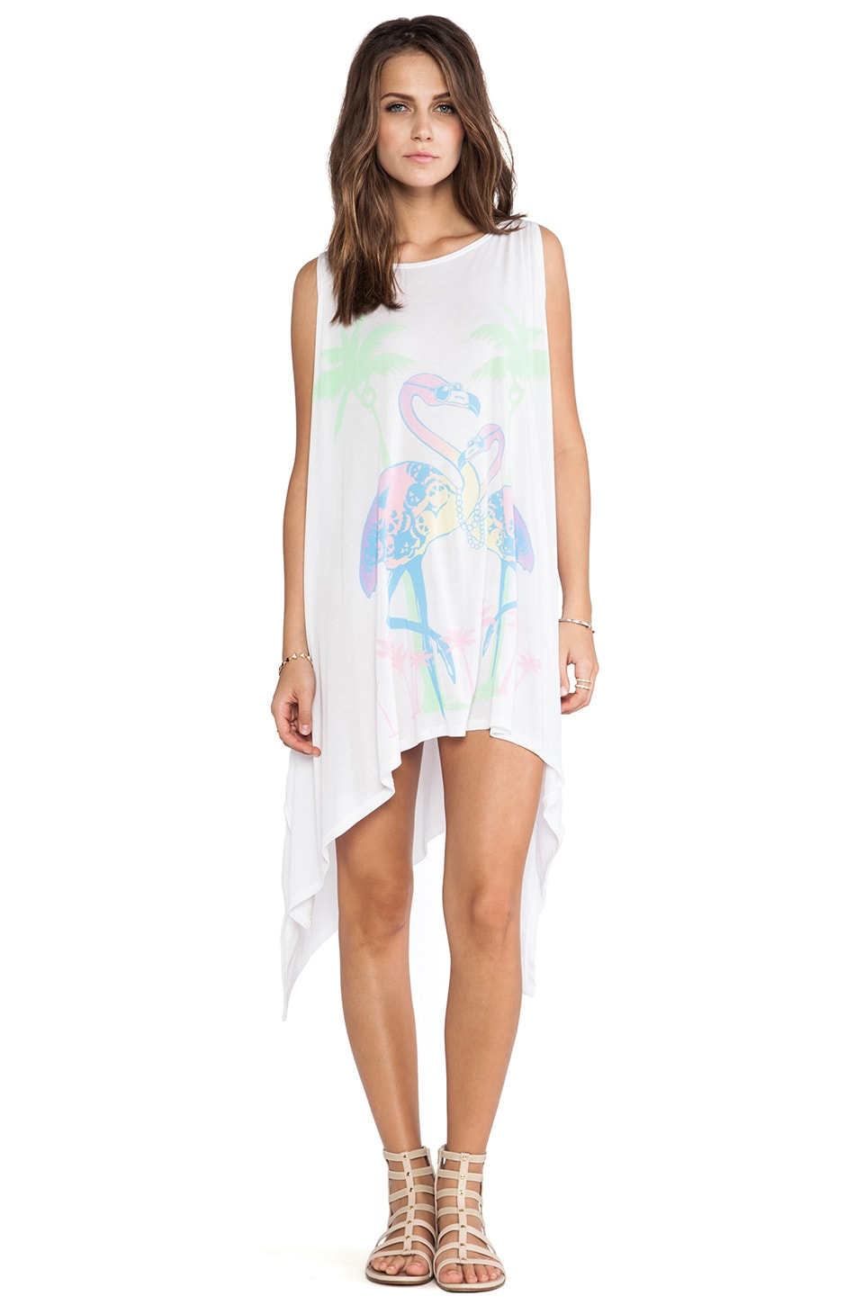 Lauren Moshi Ella Flamingo in White