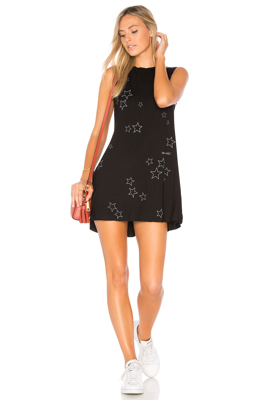 Lauren Moshi Deanna Star Night Tank Dress in Black