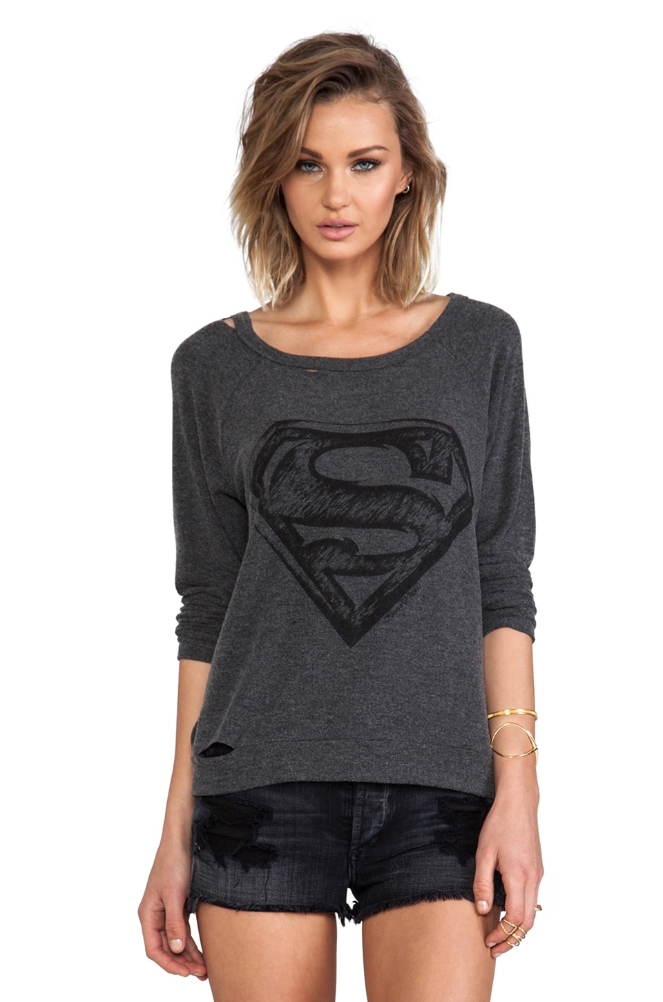 Lauren Moshi China Superman Pullover in Black