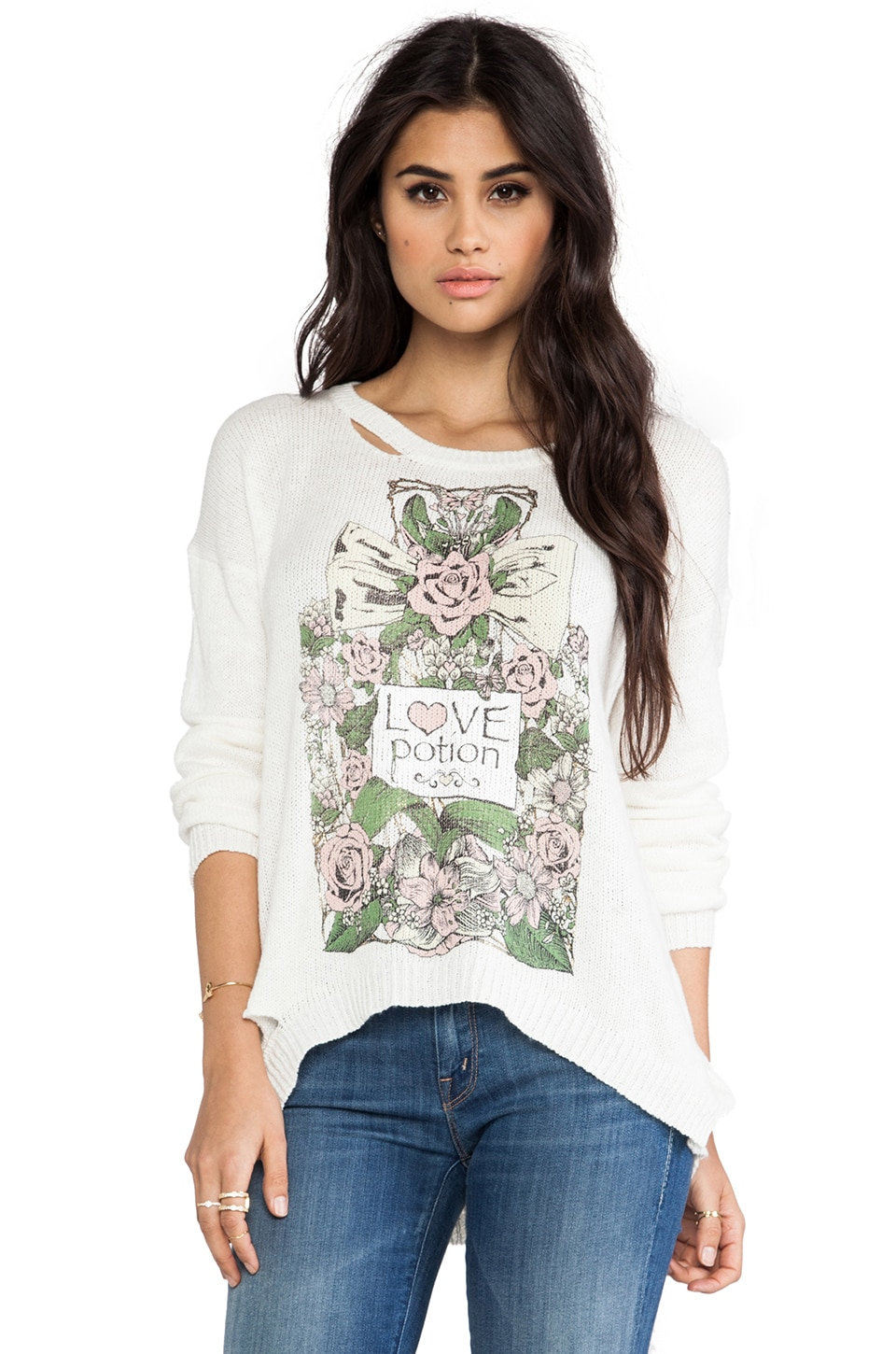 Lauren Moshi Jewel Love Potion Sweater in Natural