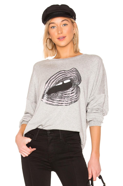 Lauren Moshi Sierra Sweatshirt in Heather Grey