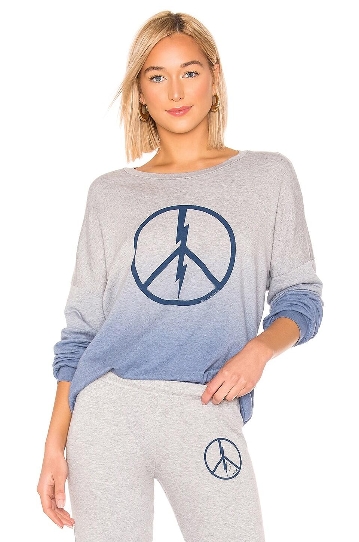 Lauren Moshi Sierra Sweatshirt in Blue Ombre