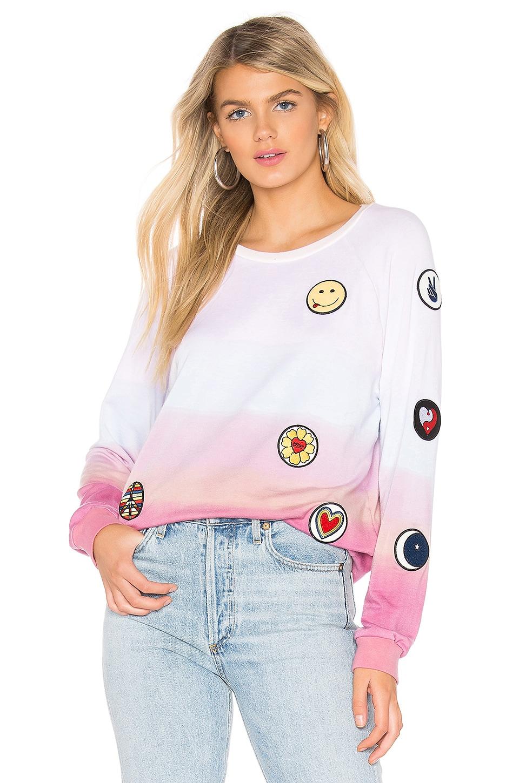 LAUREN MOSHI Noleta Vintage Pullover in Pink