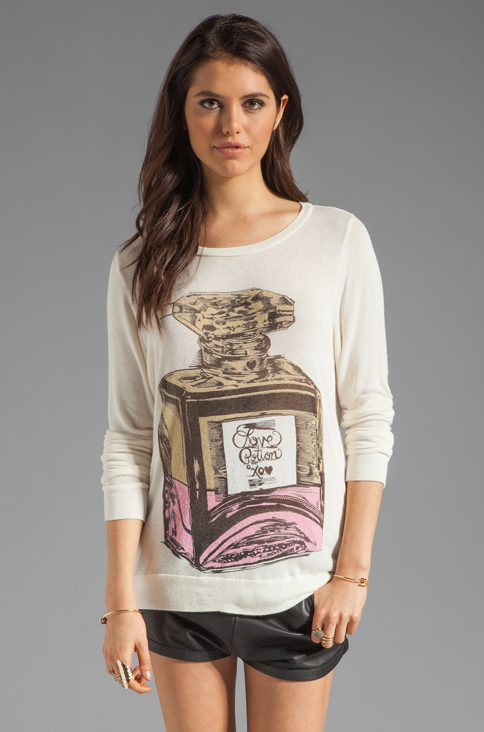 Lauren Moshi Addison Color Love Potion Sweater in Natural