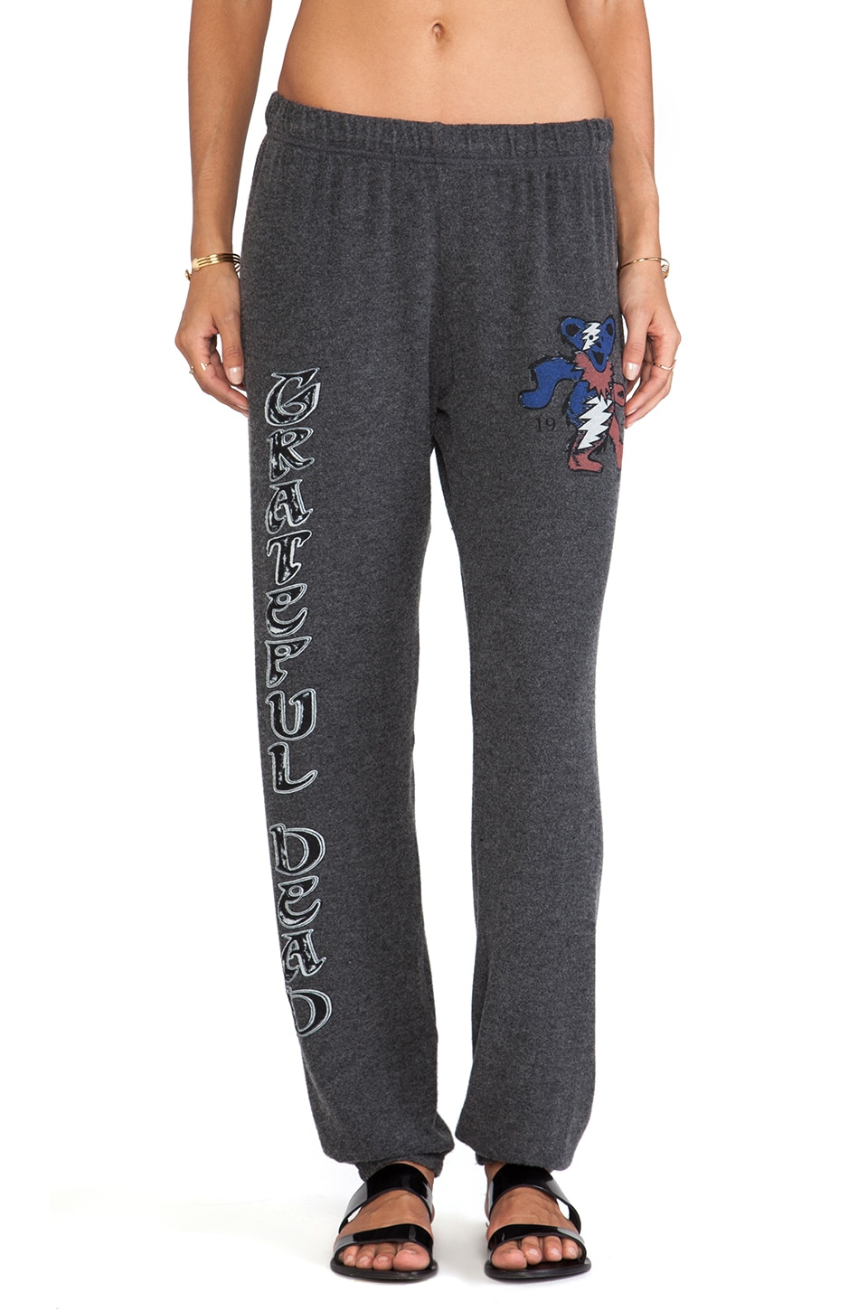 Lauren Moshi Tanzy Classic Grateful Dead Leg Sweatpants in Black