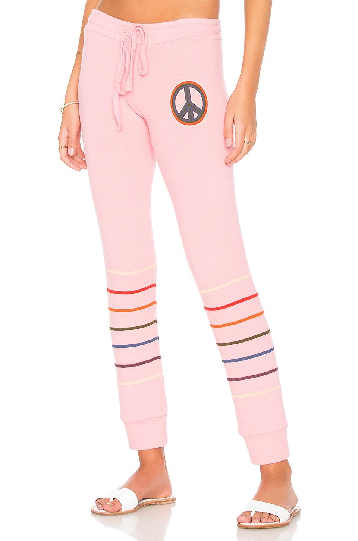 Lauren Moshi Kizzy Classic Sweatpant in Poppy Pink