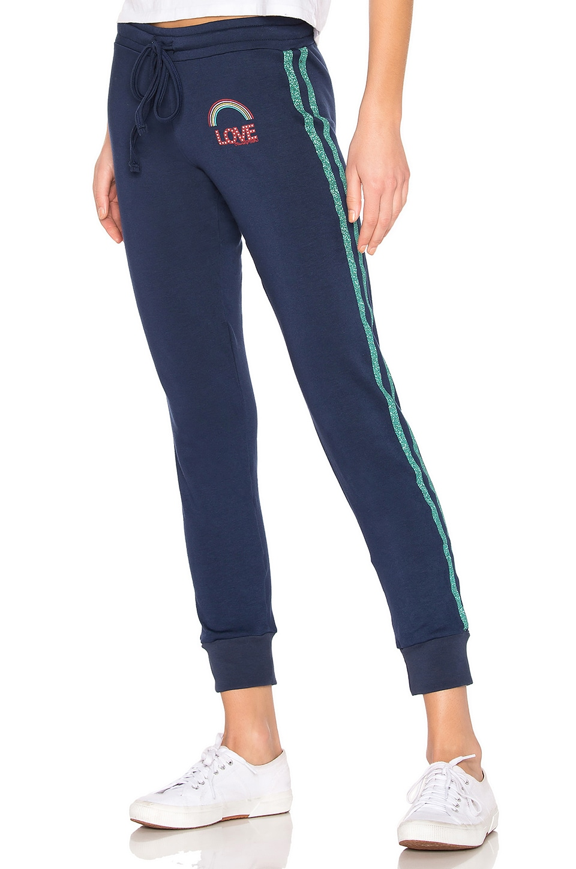 Lauren Moshi Jess Sweatpants in Port Navy & Glitter