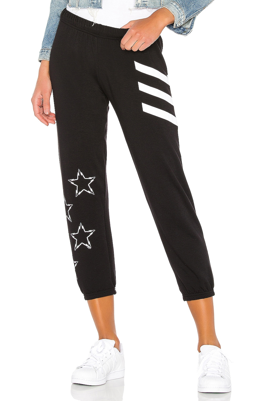 Lauren Moshi Alana Crop Sweatpant in Black