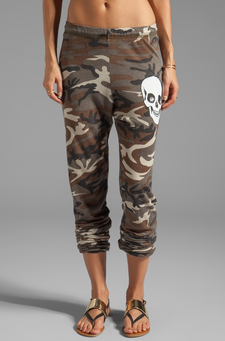 Lauren Moshi Tanzy Small Skull Face Pants in Camo