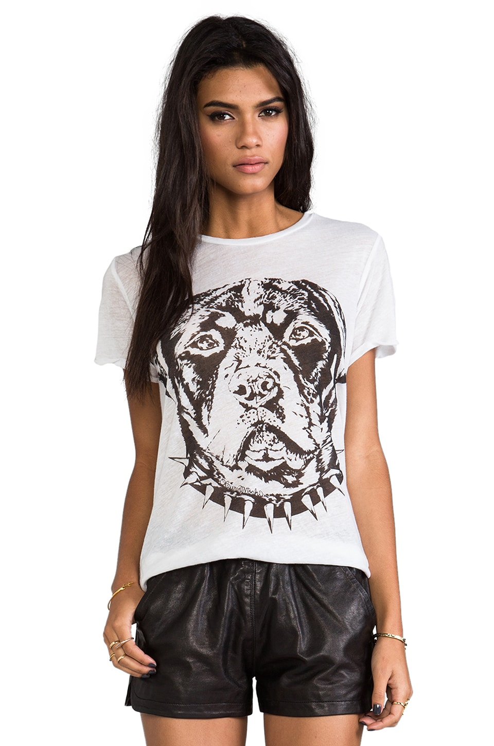 Lauren Moshi Edda Large Rot Head Tee in White