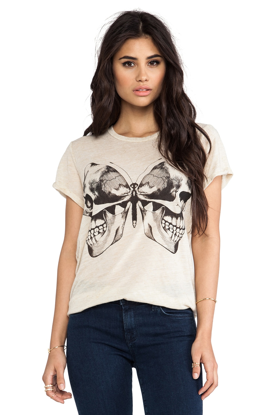 Lauren Moshi Edda Vintage Color Love Perfume Tee in Natural
