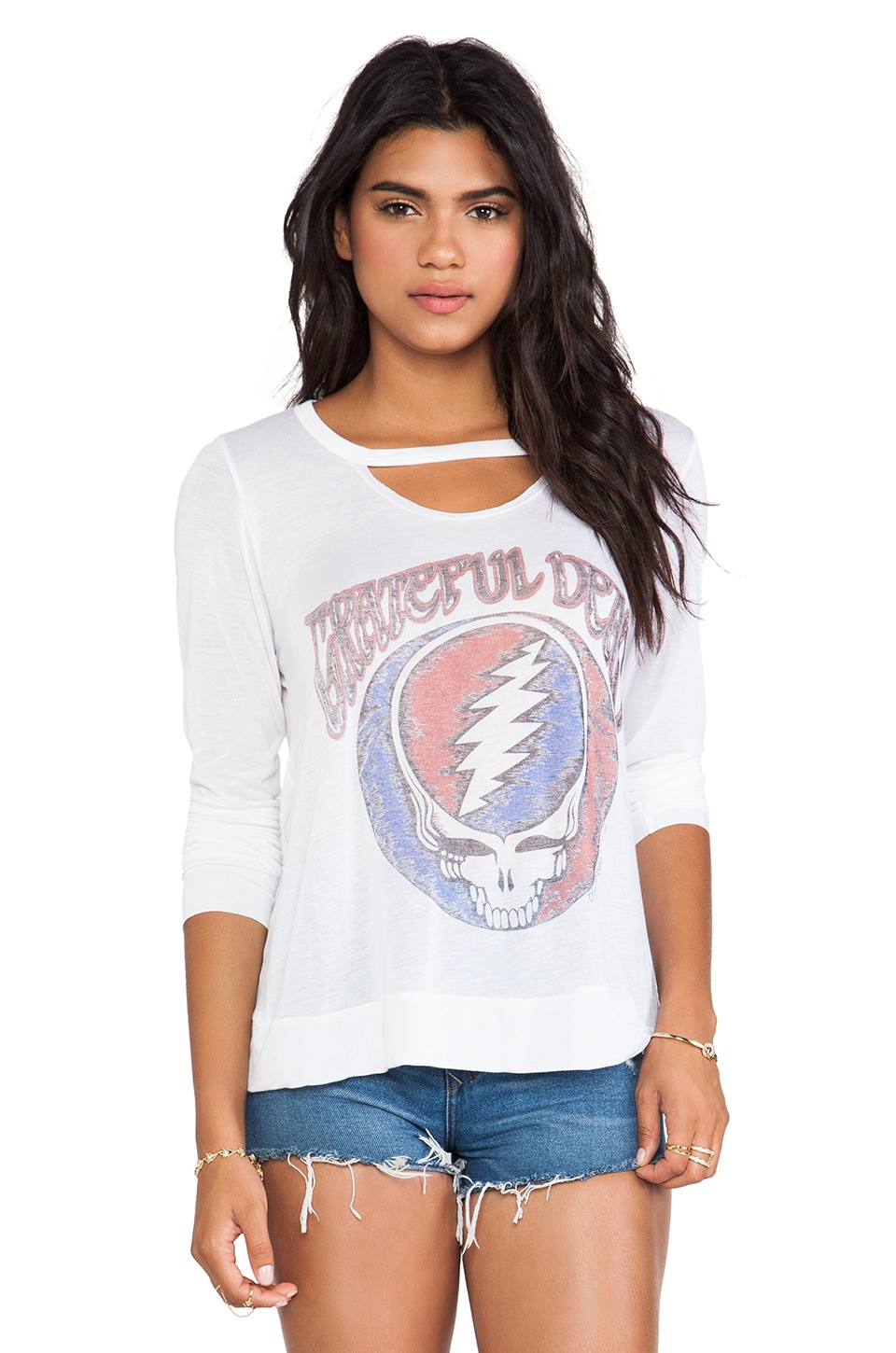 Lauren Moshi Logan Grateful Dead Tee in White