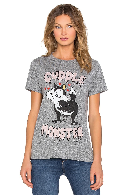 Lauren Moshi Capri Cuddle Monster Vintage Tee in Heather Grey