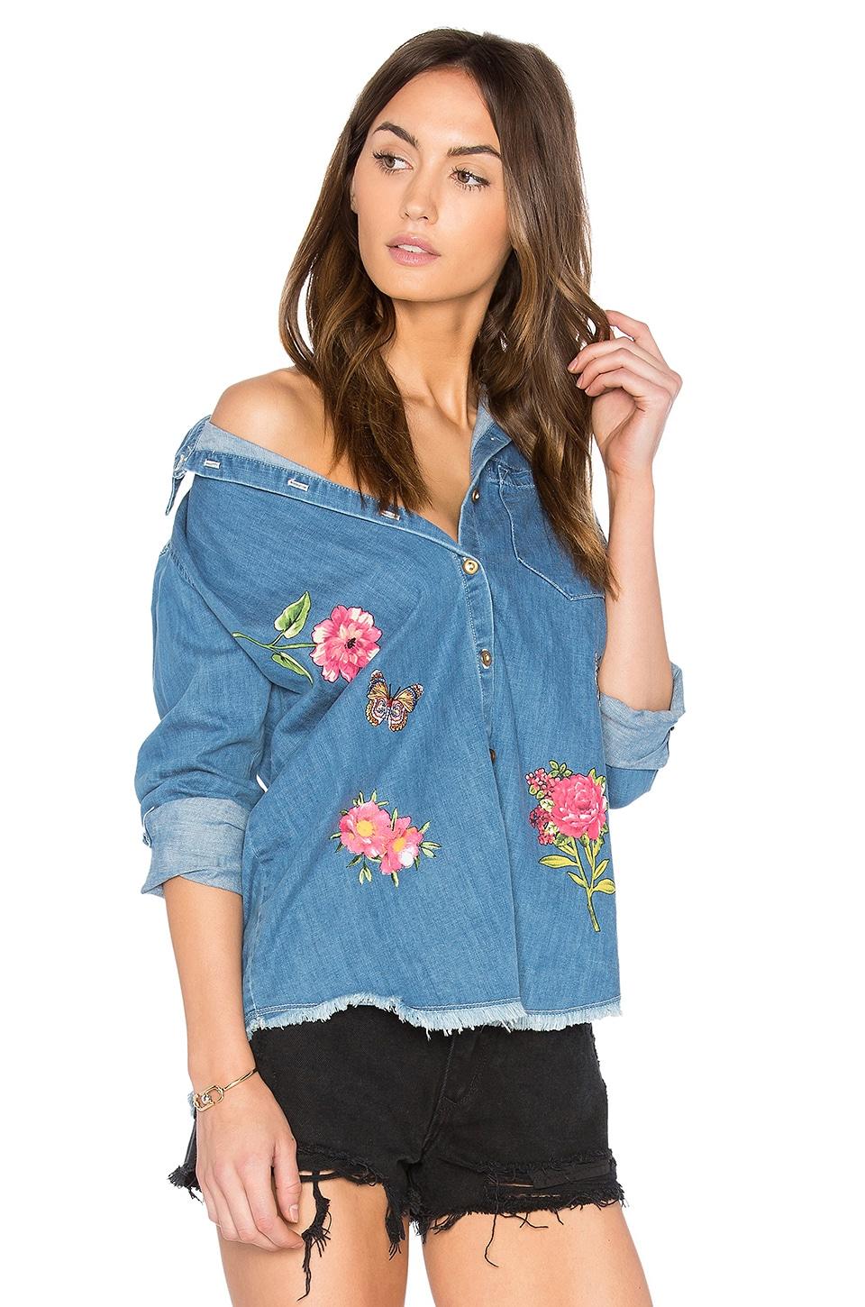 Sloane Button Up Denim Shirt by Lauren Moshi