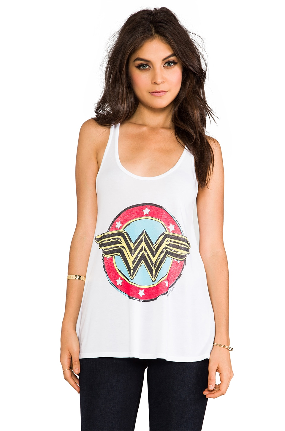 Lauren Moshi Nancy Color Wonder Women Swing Tank in White