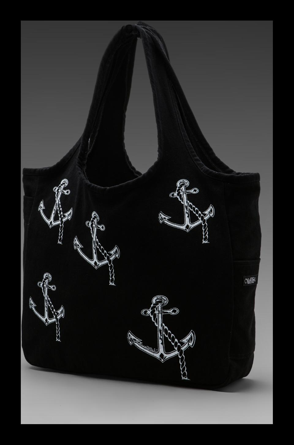 Lauren Moshi Taylor Mini Anchors Tote Bag in Black
