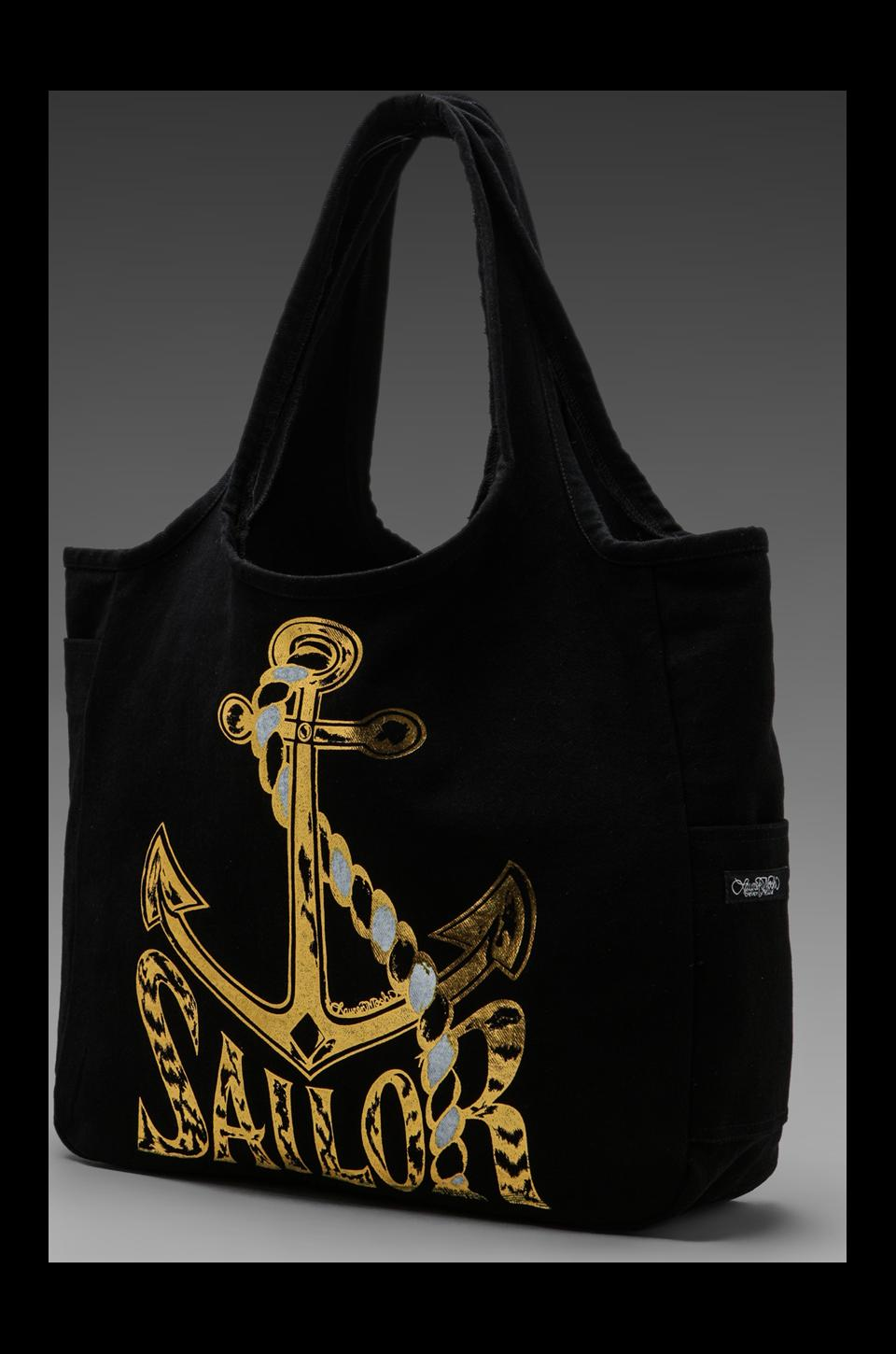 Lauren Moshi Taylor Foil Sailor Tote Bag in Black