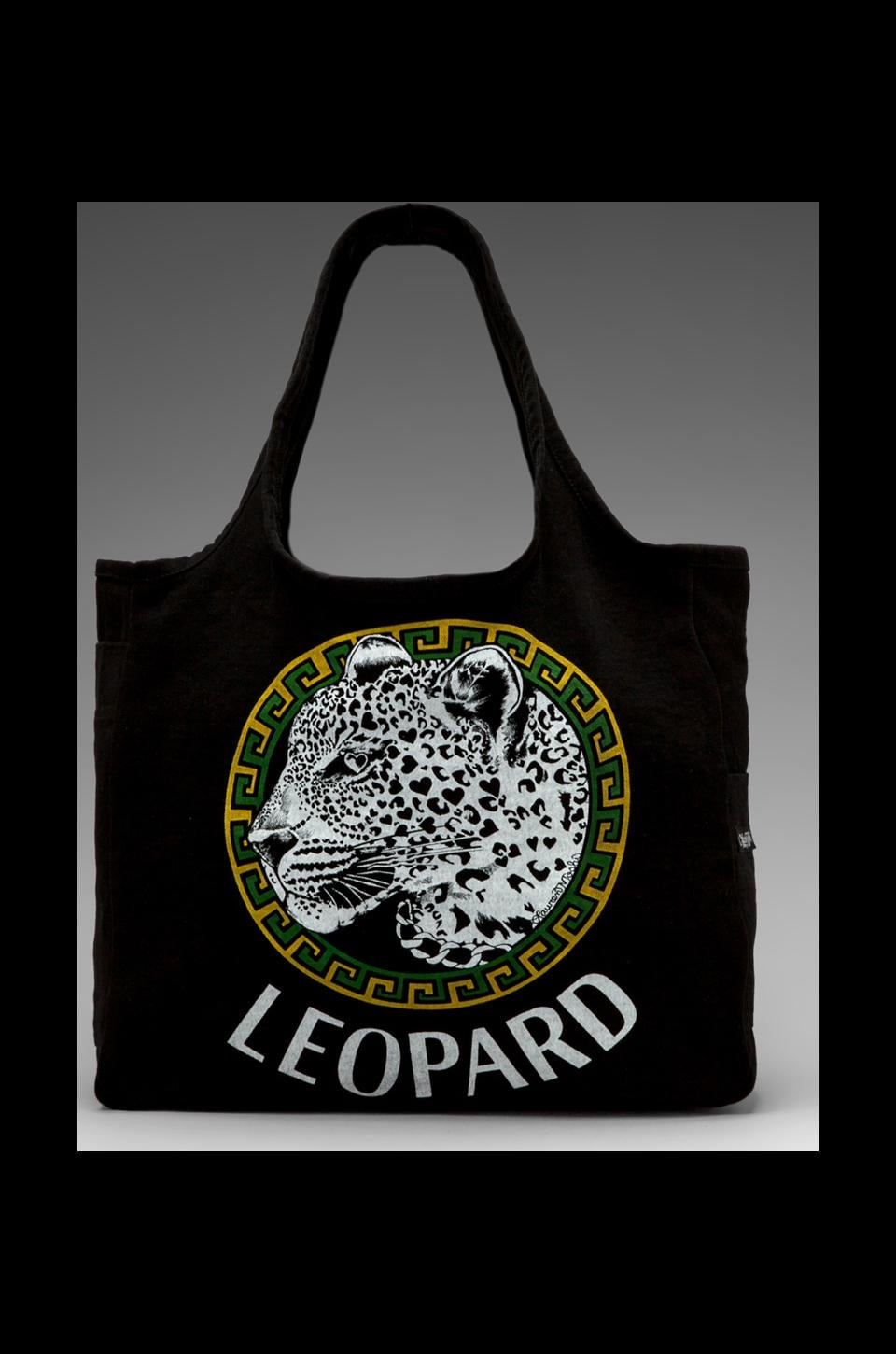 Lauren Moshi Taylor Color Leopard Medallion Tote in Black