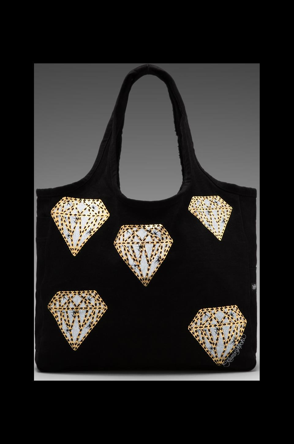 Lauren Moshi Taylor Mini Diamonds Canvas Tote in Black
