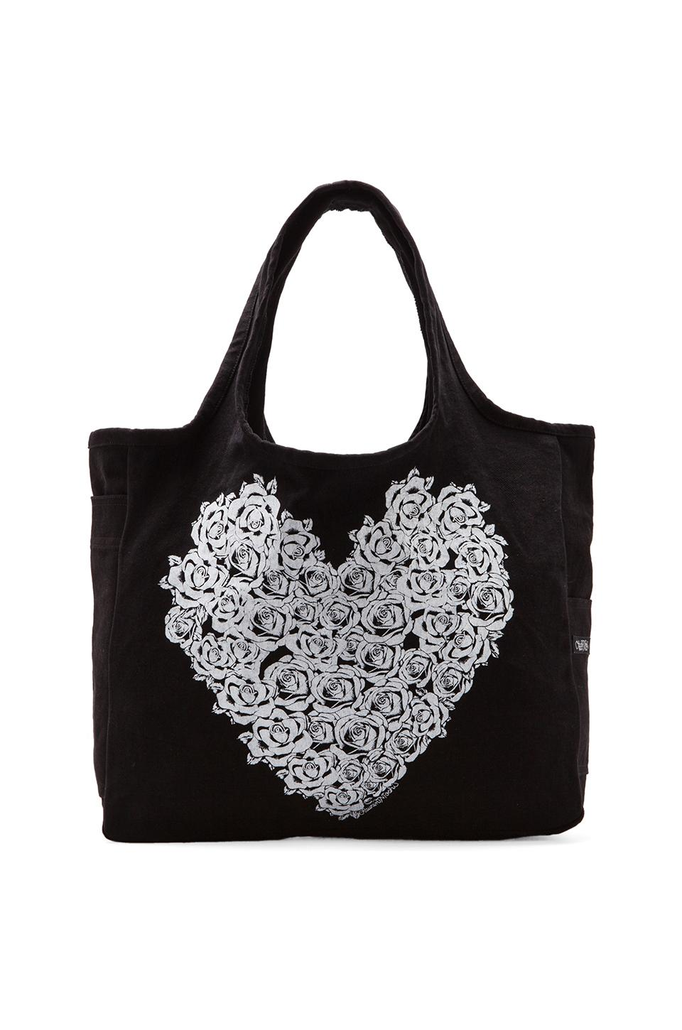 Lauren Moshi Taylor Rose Heart Tote in Black